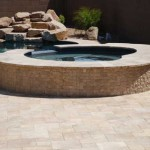 Travertine Natural Stone Pool Surface