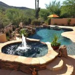 Flagstone Surface Pool