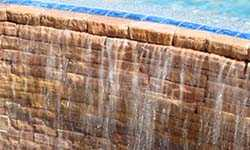 Stacked Stone Pool Spillway